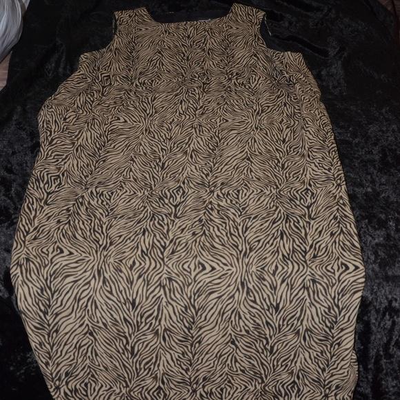 Positive Attitude Dresses & Skirts - Black and Tan Print Maxi Dress
